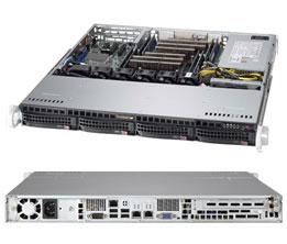 Supermicro 1U Server, 4x 3.5 inch, 1x Intel Xeon E3-1220 v6, 1x 8GB, 1x 240GB SSD, Single PSU