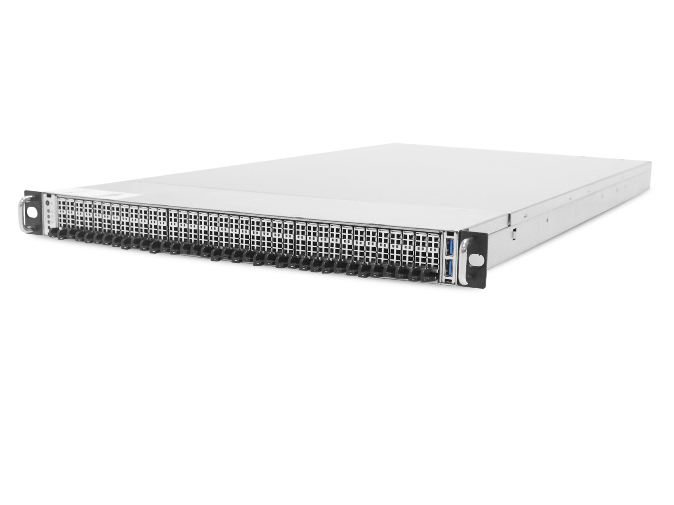 ServerDirect 1U Server, 36x M.3 NVME bays, 2x Intel Silver 4210, 2x 16GB, 1x 240GB SSD, 12x 8TB NVME Drives (96TB) , 2x GbE LAN, 2x 40/56Gb Infiniband, Redundant PSU