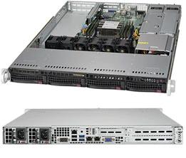 Supermicro 1U Server, 4x 3.5 inch, 1x Intel Silver 4210, 1x 8GB, 1x 240GB SSD, 2x 10GbE LAN(RJ45), Redundant PSU