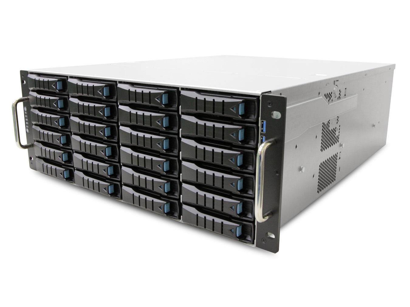 AIC RSC-4ETS XE1-4ETS0-01 4U 24-bay Storage Server Chassis