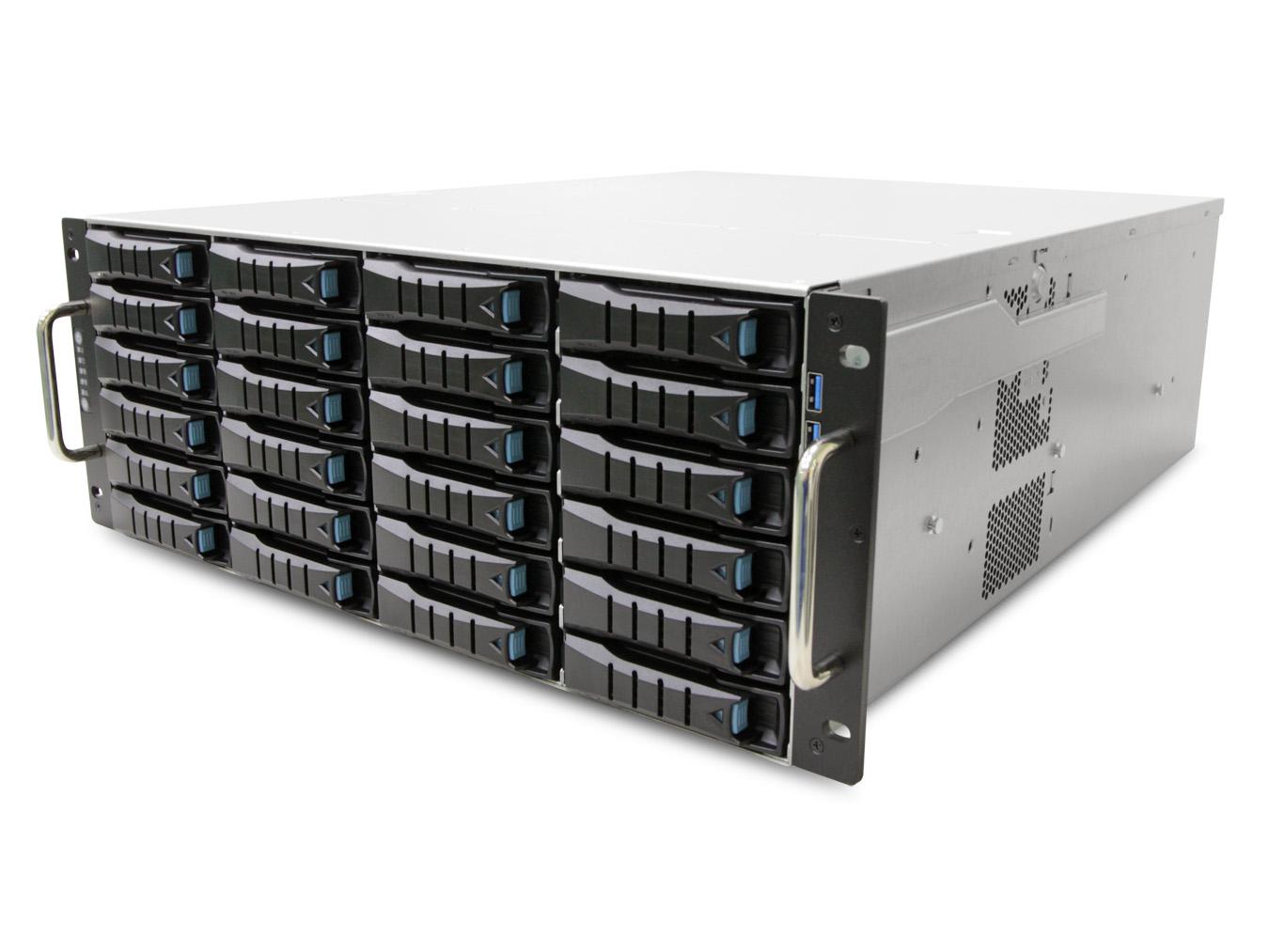 AIC RSC-4ETS XE1-4ETS0-02 4U 24-bay Storage Server Chassis