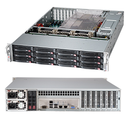 Supermicro 2U 12bay Server, 12x 4TB Storage, 2x Intel Xeon E5-2620v4, 8x8GB DDR4 memory, Dual 10GbE LAN, Redundant PSU