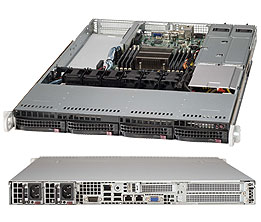 Supermicro 1U 4bay Server, 4x 4TB Storage, 2x Intel Xeon E5-2620v4, 8x8GB DDR4 memory, Dual 10GbE LAN, Redundant PSU