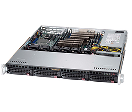 Supermicro 1U 4bay Server, 2x 4TB Storage, 1x Intel Xeon Gold 6136, 2x8GB DDR4 memory, Dual GbE LAN, Single PSU