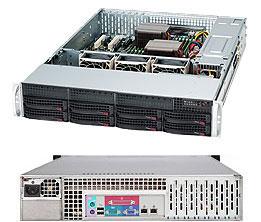 Supermicro 2U 8bay Server, 4x 4TB Storage, 1x Intel Xeon E3-1270v6, 2x8GB DDR4 memory, Dual GbE LAN, Single PSU