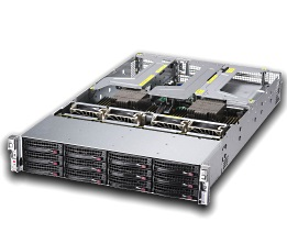 Supermicro 2U 12bay Server, 12x 4TB Storage, 2x AMD EPYC 7601, 16x16GB DDR4 memory, Dual 10GbE LAN, Redundant PSU