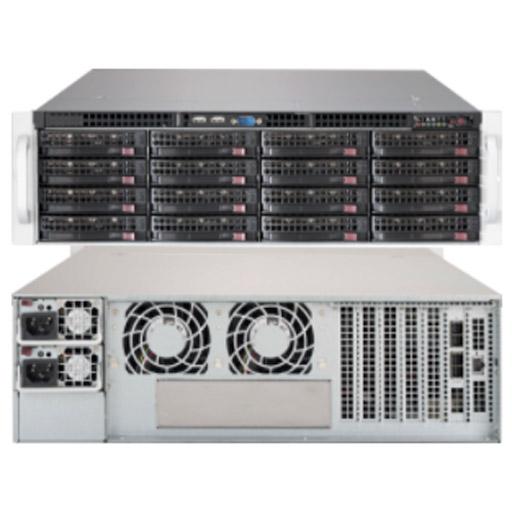 "Supermicro 3U 16x 3.5"" Bays SuperChassis 836BE1C-R1K03JBOD"