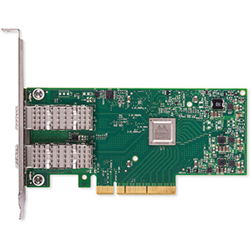 Mellanox ConnectX-4 Lx EN network interface card, 25GbE dual-port SFP28, PCIe3.0 x8, tall bracket