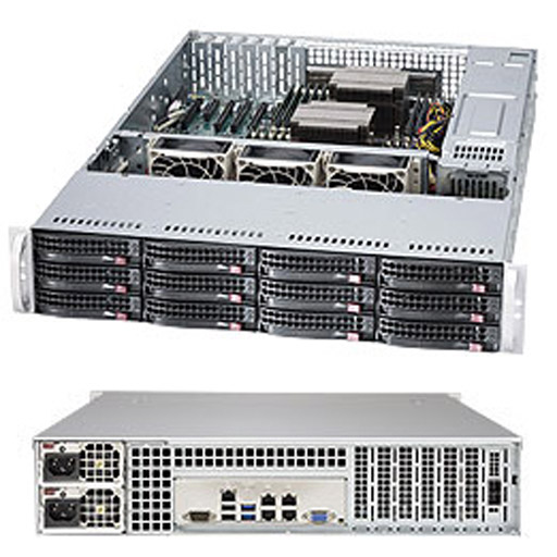 "Supermicro 2U 12x 3.5"" Bays SuperStorage Barebone Server 6028R-E1CR12N"