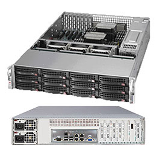 """Supermicro 2U 12x 3.5"""" 6TB SATA HDDs 800GB NVME Ceph OSD SuperStorage Server Node 6028R-OSD072P (Complete System Only)"""