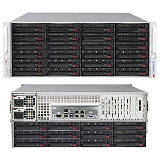 """Supermicro 4U 36x 3.5"""" 6TB SATA HDDs 2x 800GB NVME Ceph OSD SuperStorage Server Node 6048R-OSD216P (Complete System Only)"""