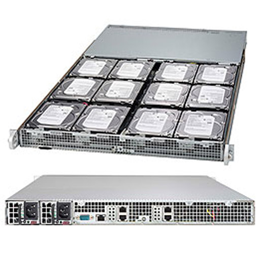 """Supermicro 1U 12x 3.5"""" Bays SuperStorage Barebone Server SSG-K1048-RT"""