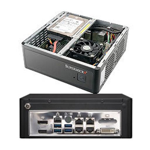 "Supermicro Compact 1x 2.5"" Fixed Drive Bay SuperServer Barebone 1019S-MP"