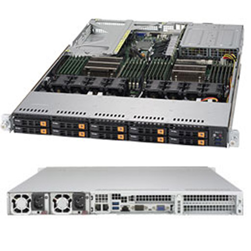 """Supermicro 1U 10x 2.5"""" Bays SuperServer 1028U-TN10RT+ (Complete System Only)"""
