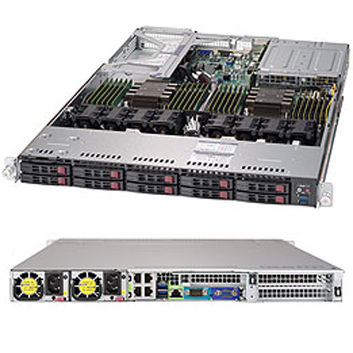 """Supermicro 1U 10x 2.5"""" Bays SuperServer 1029U-E1CR4T (Complete System Only)"""