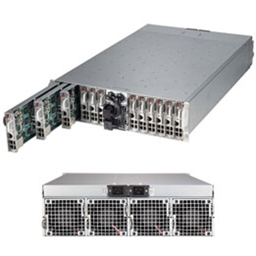"""Supermicro 3U MicroCloud 24 Nodes 24x 2.5"""" Fixed Drive Bays SuperServer 5038MD-H24TRF (Complete System Only)"""