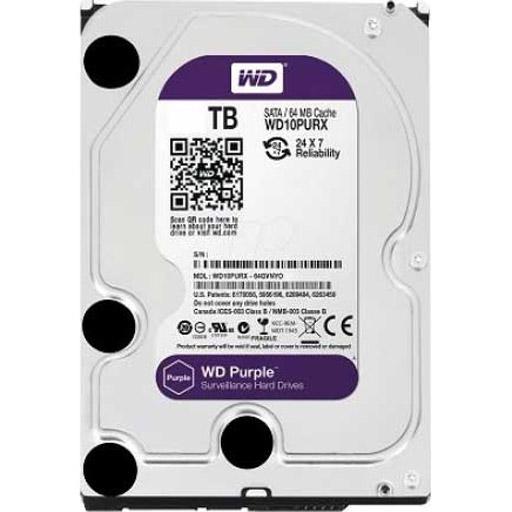 """WESTERN DIGITAL WD Purple 8 TB 3.5"""" Internal Hard Drive - SATA - 5400rpm - 128 MB Buffer"""