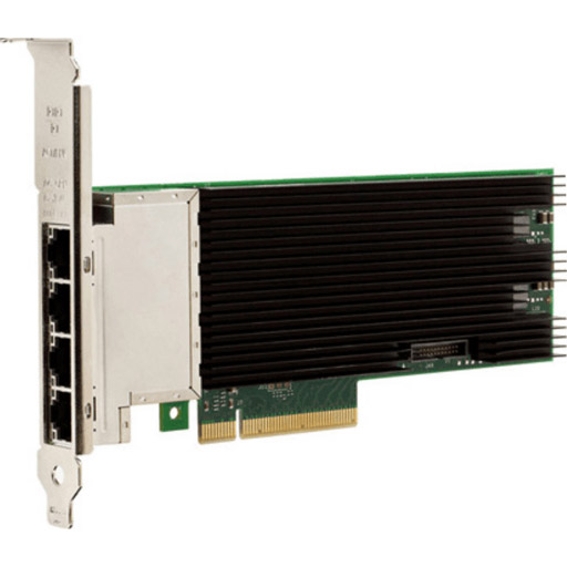 Intel 10Gigabit Ethernet Card for Server - PCI Express 3.0 x8 - 4 Port(s) - 4 x Network (RJ-45) - Low-profile, Full-height - Bulk