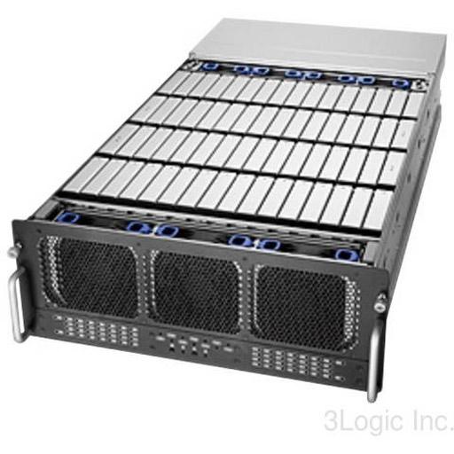 "Chenbro 4U 33.4"" 60-Bays,w/SAS Expanders, 1100W RPSU, Rail (Single Domain)"