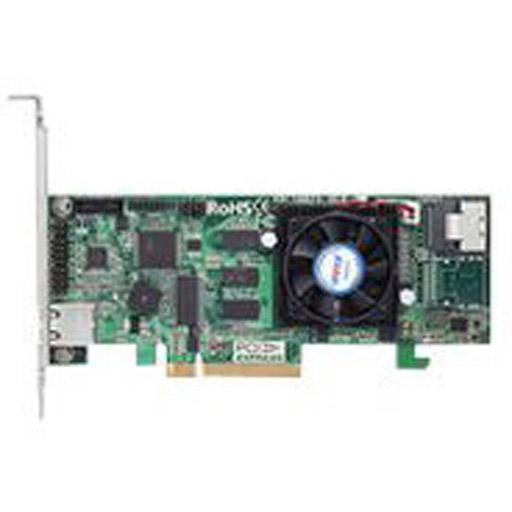 Areca 4 port 6Gb/s SAS PCIe x8 RAID Card, 1GB Cache, 1x intern SFF-8087, LP