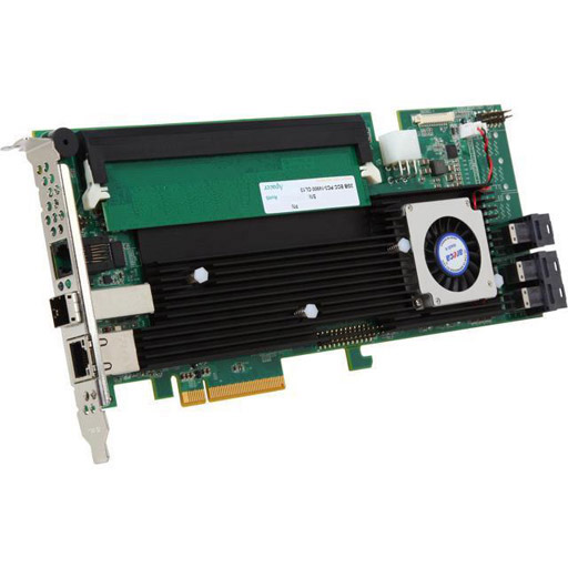 Areca 12 port 12Gb/s SAS RAID PCIe Card, Dual Core ROC, RAID 0/1/3/5/6, 2GB Cache