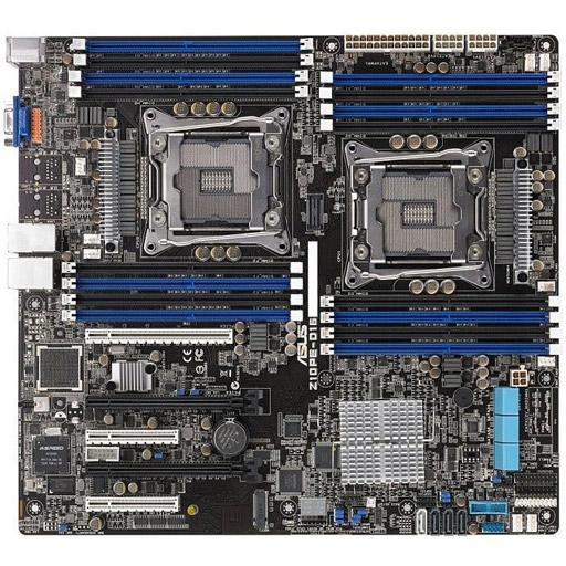 ASUS moederbord Z10PE-D16 EEB LGA2011-3, 2CPU, 16x DDR4 max 1TB REG ECC, 5x PCIe, ASM-iKVM, 2x GbE, 9x SATA, 1x M.2 SATA