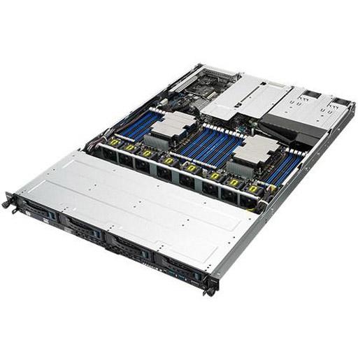 ASUS Barebone RS700-E9-RS4 1U, 4x 3.5inch Hot-Swap, 2x LGA3647,  24x DDR4 max 3TB, ASM-iKVM, 2x GbE, 3x PCIe, 1x OCP, 10x SATA, 2x M.2, Redundant PSU