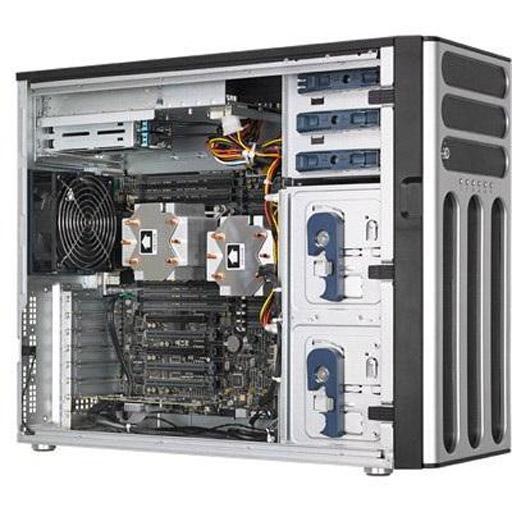 ASUS Barebone TS700-E8-RS8 V2 Tower, 8x 3.5inch Hot-swap, 1x LGA1366, 24x DDR2 max 1.5TB, ASM-iKVM, 1x GbE, 6x PCIe, 1x SATA, Redundant PSU