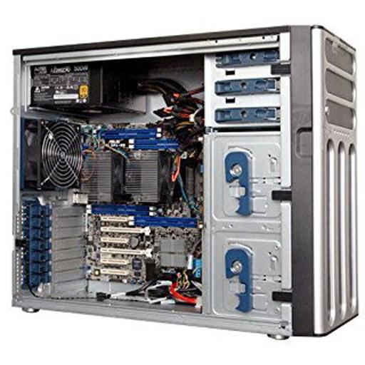 ASUS Barebone TS500-E8-PS4 V2 Tower, 4x 3.5inch Hot-swap, 2x LGA2011-3, 8x DDR4 max 512GB, ASM-iKVM, 2x Gbe, 6x PCIe, 10x SATA, 1x M.2, Single PSU