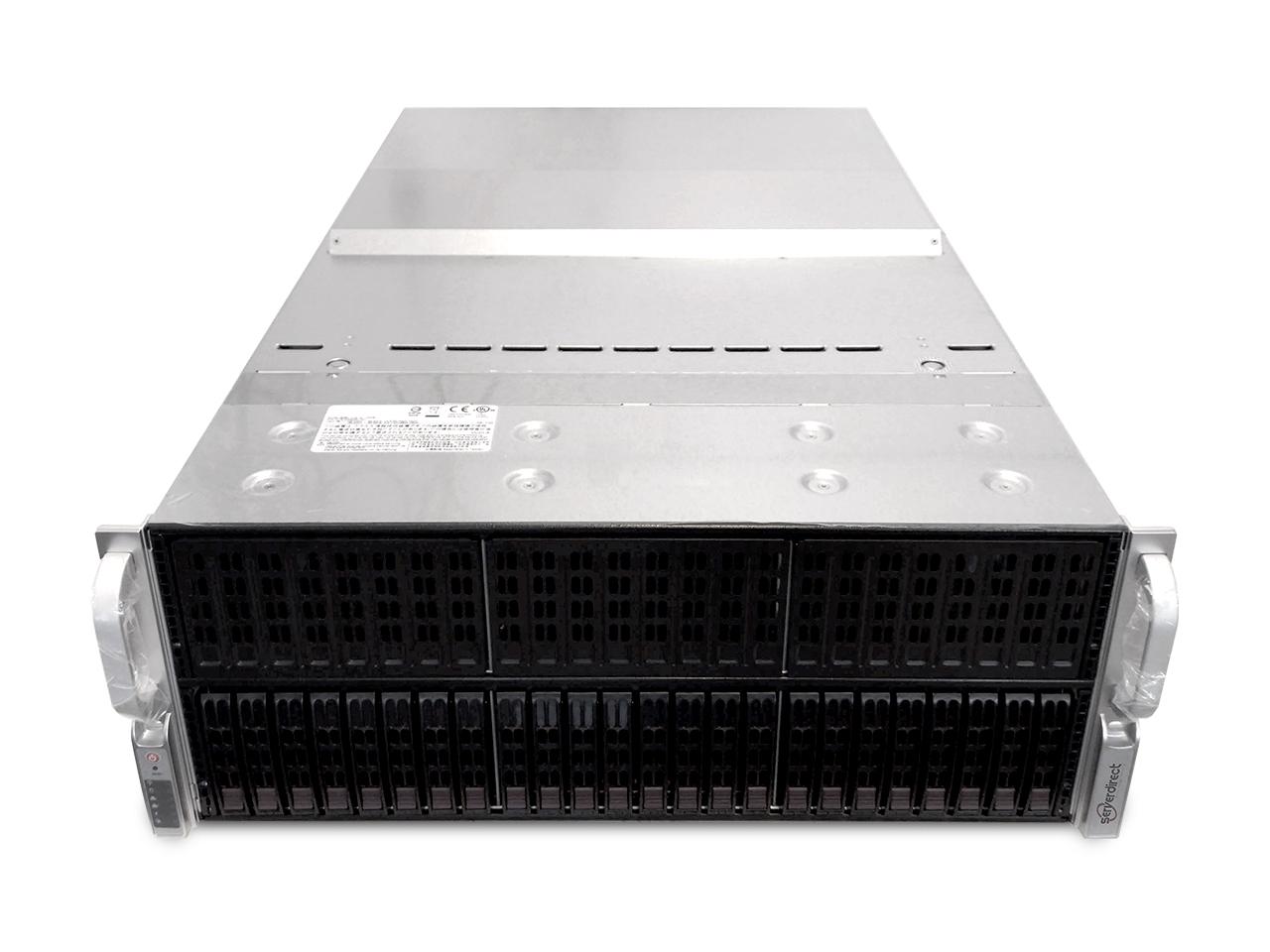 ServerDirect 4U GPU Server, 8 GPU's, 8x 16GB DDR4, 2x Intel Xeon E5-2697V4, 1x 256GB Storage (Configureerbaar)