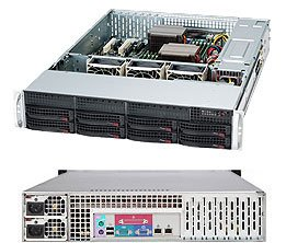 2U Server 8x 3.5 inch Hot Swap Bays, Redundant PSU