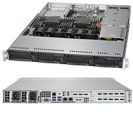 1U Server, 4x 3.5 inch, 2x Intel Silver 4110, 1x 8GB, 1x 240GB SSD, Redundant PSU