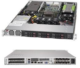 Supermicro 1U GPU Server, 6x 2.5 inch, 1x Intel Silver 4210, 1x 8GB, 1x 240GB SSD, 1x GPU nVidia P40, Redundant PSU