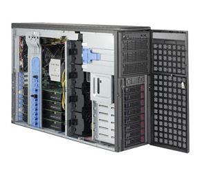 Supermicro 4U Tower GPU Server, 8x 3.5 inch, 2x Intel Silver 4210, 2x 8GB, 2x 240GB SSD, 4x nVidia RTX2080TI, Redundant PSU