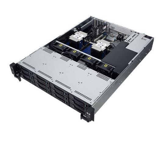 Asus 2U Server, 12x 3.5 inch, 2x Intel Silver 4210, 1x 8GB, 1x 250GB SSD, Redundant PSU