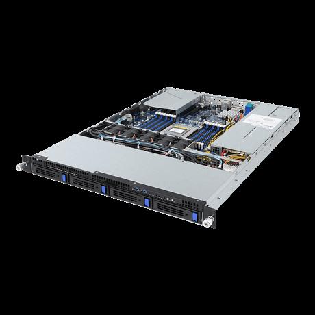 Gigabyte 1U Server, 4x 3.5 inch, 1x AMD EPYC 7351P, 2x 8GB, 1x 250GB SSD, 2x 10Gb/s SFP+, Redundant PSU