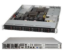 Supermicro 1U Server, 10x 2.5 inch, 2x NVME, 2x Intel Silver 4214, 4x 8GB, 1x 250GB M.2, Redundant PSU