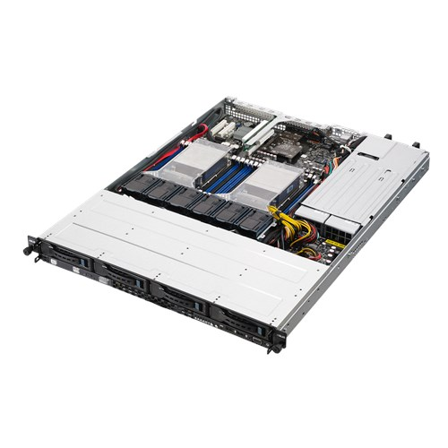 ASUS 1U Server, 4x 3.5 inch, 2x Intel Xeon E5-2620 V4, 1x 8GB, 1x 250GB SSD, Redundant PSU
