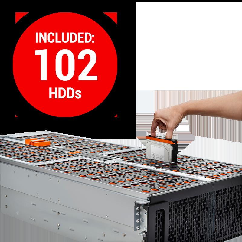 HGST JBOD 4U + 102 Toshiba 10 TB HDDs