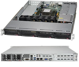 Supermicro 1U Server, 4x 3.5 inch, 1x Intel Silver 4210, 1x 8GB, 1x 240GB SSD, 2x 10GbE LAN(RJ45), Redundant PSU