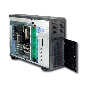 Supermicro 4U Superserver 7046-3R Black