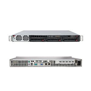 Supermicro 1U Superserver 8015C-T Black