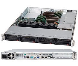 Supermicro 1U 4bay Server, 4x 4TB Storage, 2x Intel Xeon E5-2620v4, 8x8GB DDR4 memory, Dual 10GbE LAN, Single PSU