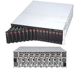 Supermicro 3U 8node MicroCloud Server, Per node: 2x 4TB Storage, 1x Intel Xeon E5-1660v4, 2x8GB DDR4 memory, Dual GbE LAN, Redundant PSU
