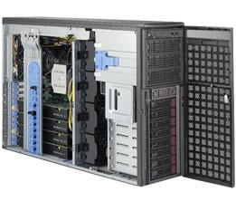 Supermicro Tower 8bay Server, 4x GTX 1080TI GPUs, 2x 4TB Storage, 1x Intel Xeon Gold 6134, 8x16GB DDR4 memory, Dual 10GbE LAN, Redundant PSU