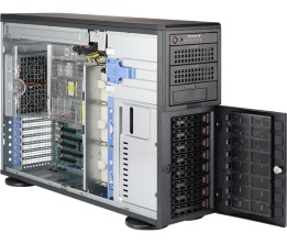 Supermicro Tower 8bay Server, 12x 4TB Storage, 2x AMD EPYC 7601, 8x16GB DDR4 memory, Dual 10GbE LAN, Redundant PSU