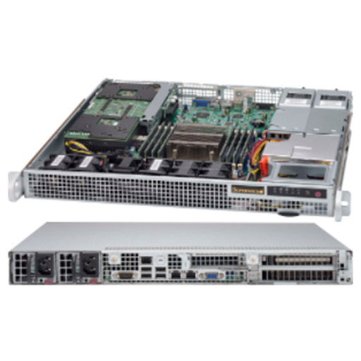 "Supermicro 1U 2x 2.5"" Fixed Drive Bays SuperServer 514-R407W"