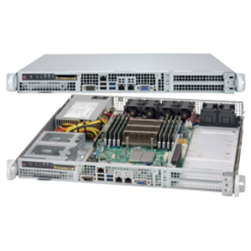 "Supermicro 1U 4x 2.5"" Fixed Drive Bays SuperServer 515-505"