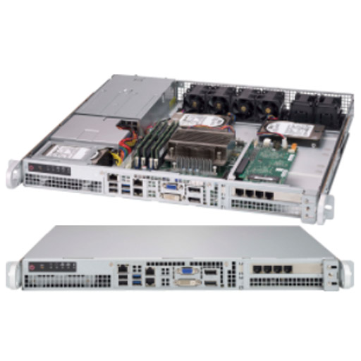 "Supermicro 1U 2x 2.5"" Fixed Drive Bays SuperServer 515-R407"