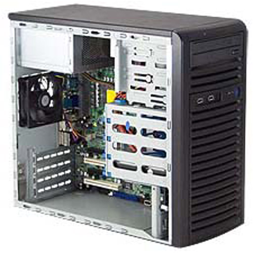 """Super Micro Tower 4x 3.5"""" Fixed Drive Bays SuperChassis 731i-403B"""